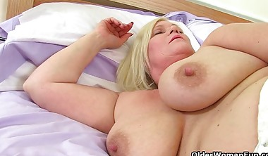 Old And Fat Women Strip And Play With Their Pussies