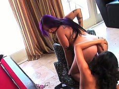 Oriental Annie Cruz And Destiny Deville Spend Their Sexual Energy Together