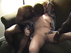Busty Mature Bowing Bbc In Interracial Threesome