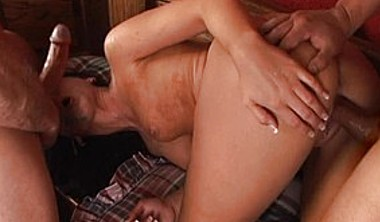 Latin Babe Gets Double Banged At Her Home