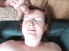 Chubby Mature Sucks Young Cock