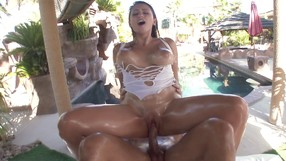 Incredibly Slutty Oiled Chicks Gets Fucked.
