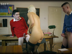 Pornstar With Thin Waist Blanche Bradburry With Two Students