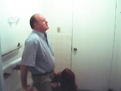 Quick Fellatio In The Toilet
