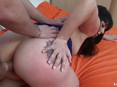 French Amateur Gets Assfucked And Facialized