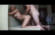 Blonde Teen GF Getting Ass Banged