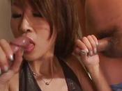 Sexy Asian Babe Gives Boyfriend A Spectacular Blowjob