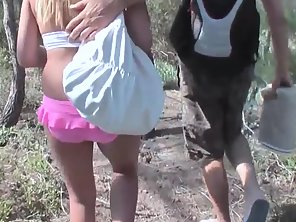 German Blonde Whore In The Jungle Enjoying Massive Fuck By Her Man