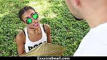 ExxxtraSmall – Petite Ebony Bounces On A Stiff Big Cock