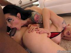 Sexy Chicks Leya Falcon And Katrina Jade Took Boy For Threesome