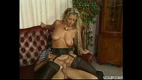 Blonde Milf With Opaque Stockings Having Fun