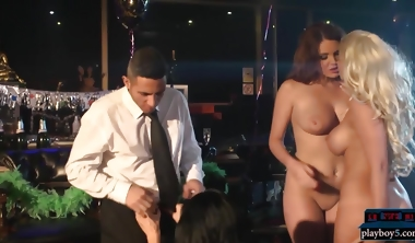 Huge Tits Pornstars Fuck A Guy At A New Years Party