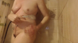 Boy With Hard Cock Spies His Fat Step Mom In The Shower