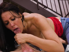 Oral Sex Is Like Art For Reagan Foxx And Stepson's Cock Is The Brush