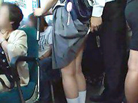 Asian Schoolgirl Groped In Public Bus On Her Way To Home