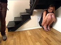 Helpless Girl Tries To Hide But She Chooses Wrong Place