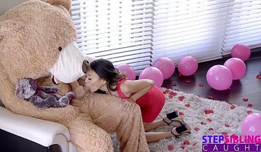 Fucking The Big Valentine Teddy Bear With StepBro Inside S9:E