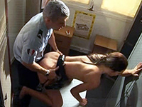 Police Officer Fucks His Coworker In The Locker Room
