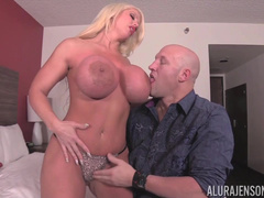 Bald Man Hires A Hooker And Alura Jenson Comes To Him Soon