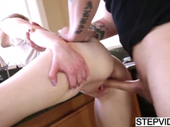 Abi Grace Is Stuck In Sink And Offers Stepbrother To Fuck Her