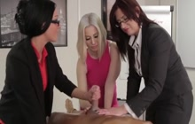 Office Hoes Giving A Handjob To Their Boss