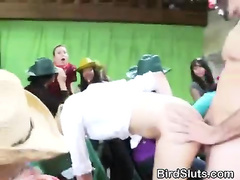 Blonde Takes First Facial During A Barn Party