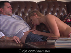 Mature Guy Relaxes On Couch With Young Mistress Ivana Sugar
