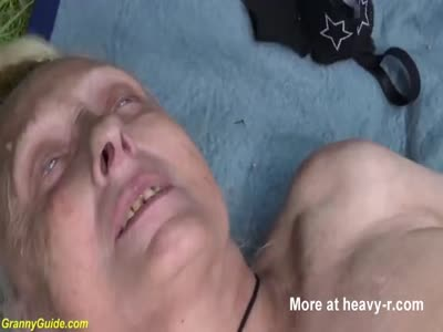 Granny Fucked Rough Outdoors