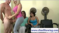 Cfnm Horny Girls Enjoy Service By Naked Hairdresser