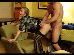 Muscular Guy Relaxes In Hotel With Cougar Nicole Aniston