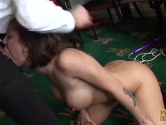 Busty Bitch Betty Foxxx With Tattoos Has Sex With British Man
