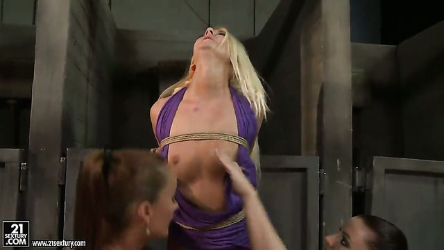 Blonde Valerie Follass Is On Fire In Girl On Girl Action With Lovely Maria Bellucci
