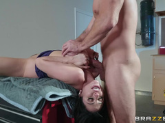 Cheeky Guy Pulls Cock Out And Ariella Ferrera Satisfies It