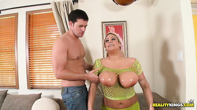Blonde Melodie Gets Mouth Pounded By Guys Throbbing Ram Rod