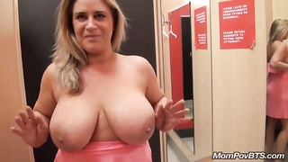 Big Natural Tits MILF Flashes In Public Then Fucks And Sucks Me Off