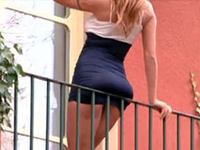 Her Killer Ass On The Balcony Was Begging For Rough Sex