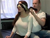 Unfaithful Girlfriend Blindfolded And Fooled Into Fucking Another Man