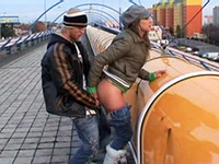 Russian Couple Couldn't Wait To Get Home To Fuck