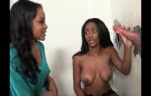 Lola H And Persia B. Gloryhole Threesome