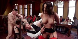 Babes In Stock Fucked At Orgy Party