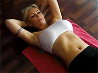 German Milf Gets His Workout Interrupted By A Horny Hubby