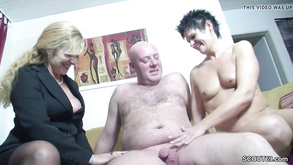 Real German Couple In Female Casting With Big Tit Mommy