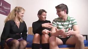 German Threesome Amateur