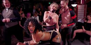 Interracial Orgy Tormenting And Fucking