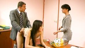 Threesome Office Sex