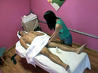Asian Girl Gives This Guy A Very Happy Ending Massage