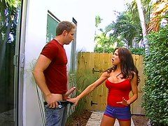Hunter Bryce Swalows A Dick Next Door