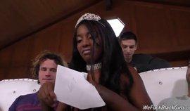 Ebony Teen Get Gangbanged By White Guy For Her Birthday