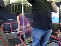 Crazy Couple Doesn't Mind Fucking In The Public Bus