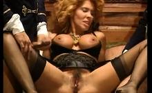 Lingerie Loving Blonde Enjoys A Threesome